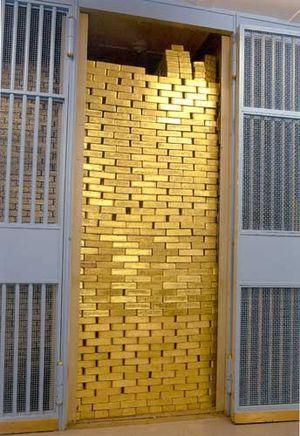 English: A picture from the gold vault of the ...