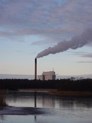 English: Tahkoluoto coal power plant. Suomi: T...