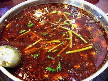 重庆火锅. Chongqing hotpot, a Szechuan version of ...