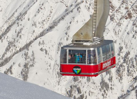 Like Jackson, Snowbird's lifts are as big as the mountain.