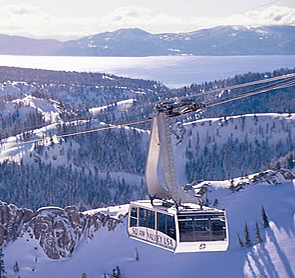 We like trams. Squaw Valley's got one. Check out Lake Tahoe in the distance.