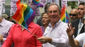 Mike Bloomberg, one of many billionaire backers of same-sex marriage, shown here at New York Pride.... [+] Photo via Flickr.