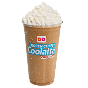 One of Dunkin's popular beverages, the frozen Coolatta. Hold the donuts.