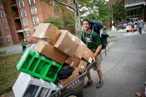 college student moving in
