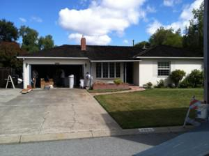 The Apple Garage, in Los Altos, CA. Steve Jobs' family home and the birthplace of Apple Computer.