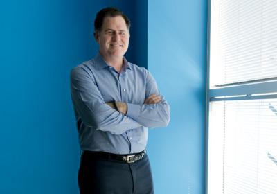 "Michael Dell now owns a 75 percent stake in the company. The only investor he has to answer to, he... [+] jokes, is ""self."" (Photo credit: Christopher Peacock)"