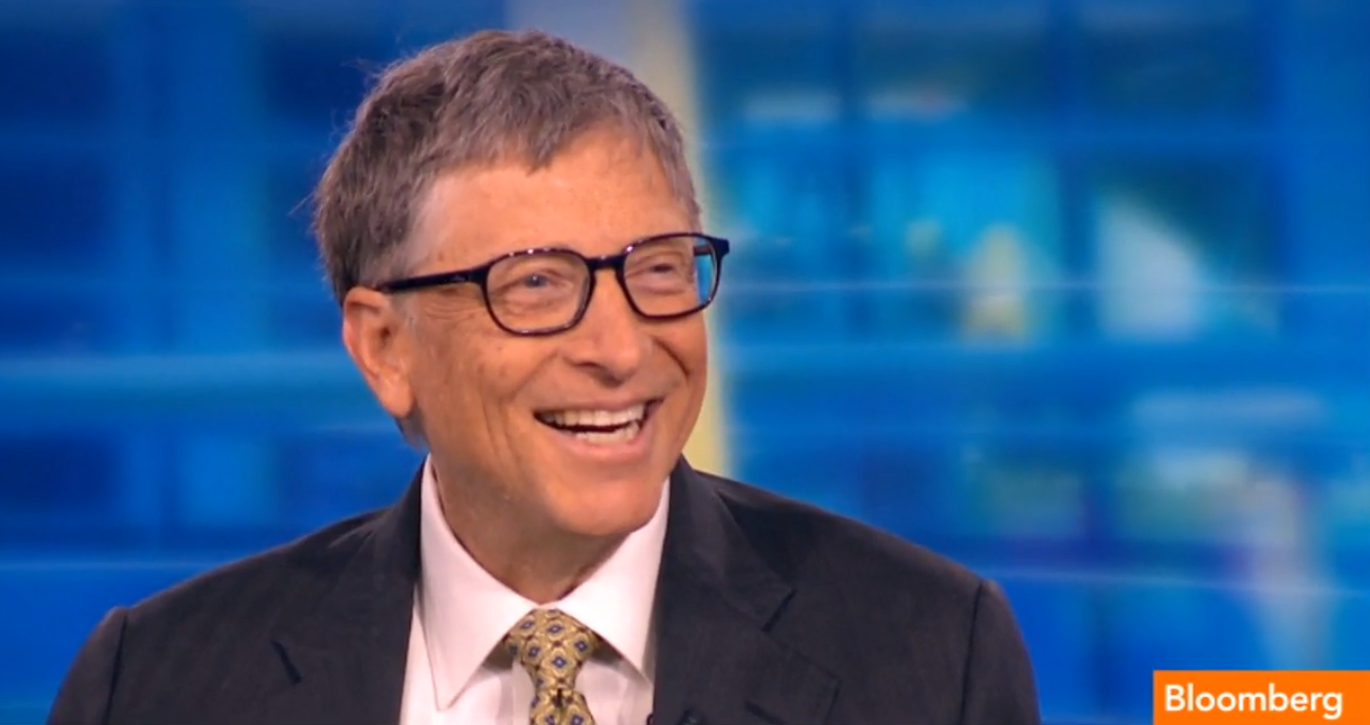 "Microsoft co-founder Bill Gates said his foundation will be his ""full-time work"" for the rest of his life. (Credit: Bloomberg TV)"