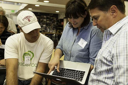 Marissa Guggiana of The Butcher's Guild works with hackers at Hack//Meat SV. Photo Credit: Andre... [+] Hermann