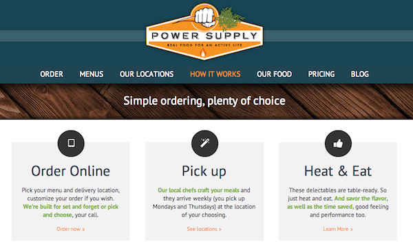 Power Supply Subscription Food Startup