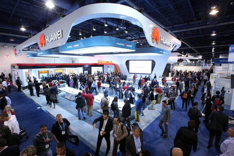 More than one shall stand - the Huawei stand does brisk business (image credit: Huawei)