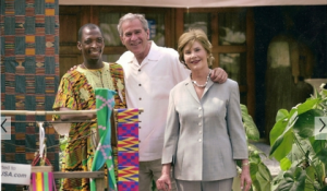 Textile Supplier with President George W. Bush
