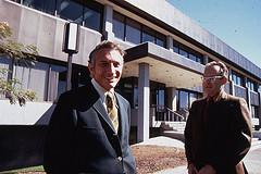 Robert Noyce and Gordon Moore at SC1 1970