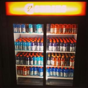Dwyane Wade of the Miami Heat has endorsed Gatorade since 2005 and has a fully stocked Gatorade refrigerator in his house. (Photo via Instagram)