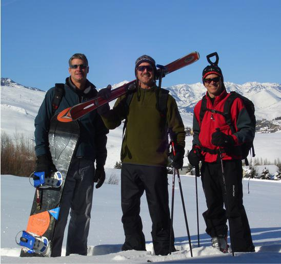 Lunch break - backcountry skiing out the back door of All Star Vacation Homes' Sun Valley Log Home