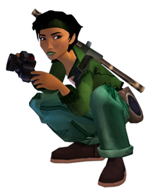 Jade, the lead character of Ubisoft's Beyond Good & Evil