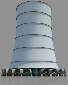 Solar Wind Energy's depiction of its energy tower.