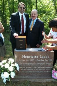 The author and his Ph.D. dissertation with Dr. Roland Pattillo at the newly-dedicated gravestone for... [+] Henrietta Lacks, Clover, VA, 29 May 2010.