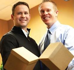 Jeff Reeves and Aaron Brown of Box Home Loans were 'cursed' with an 1,811% 3-year growth rate. Photo courtesy of Utah Valley BusinessQ.