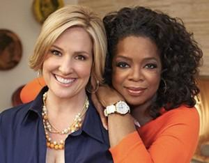 Author Brene Brown in a visit with Oprah (image courtesy of Oprah.com)