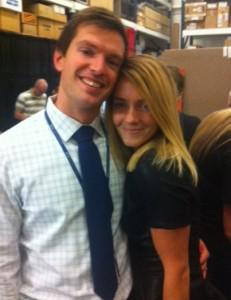 Fashion Stylist Lindsey Shores with husband Jared Shores, a producer for BYU TV
