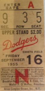 This ticket from the Brooklyn Dodger's only world championship season cost $10 at a flea market.
