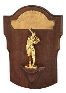 The Rookie of the Year award Jackie Robinson won in 1947 is up for public sale for the first time. (Lelands)