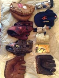 A melody of finds for $25 and below includes a 1949 Brooklyn Dodgers book and 1940s Bob Feller baseball glove.