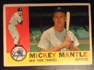 Mickey Mantle's 1960 Topps Card at the peak of his popularity. (Topps Inc.)
