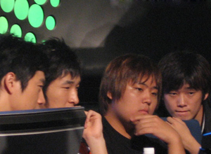 Park Sung Jun watching a game of StarCraft