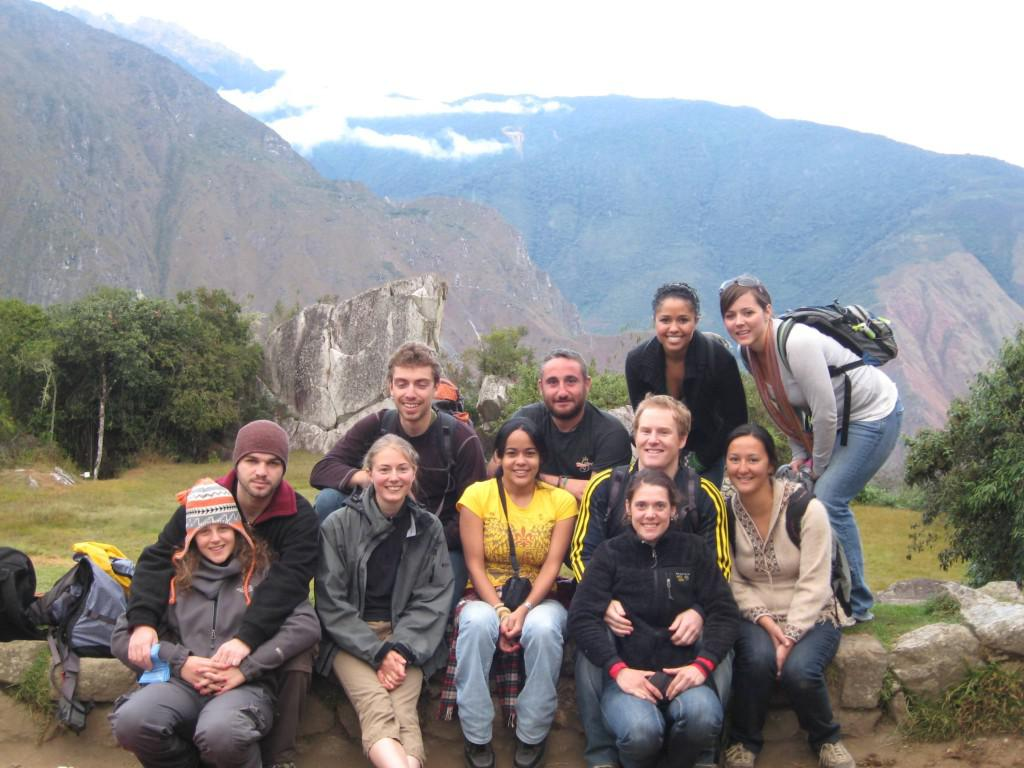 Amir Sagron (front row, second from left) with other Israeli backpackers in South America. Image credit: Amir Sagron