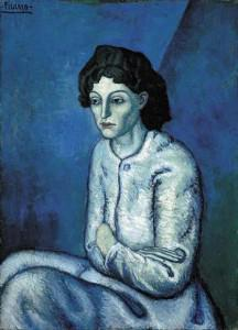 """Woman with Folded Arms,"" by Pablo Picasso (1901-02), painted during his ""blue period."""