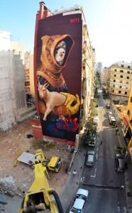 "This massive mural, by Chilean graffiti artist Inti, was one of the pieces made for the ""White Wall"" project. Photo: Inti"