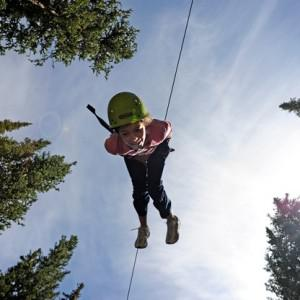 Extreme sports, like zipling, at corporate retreats are supposed to foster team building. Photo: RJ Sangosti/The-Denver Post/Getty-Images