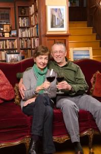 In Seattle, Kathleen Brooker and Timothy McDonald drink to the French home (in the photo) they... [+] recently acquired. Photo: Rich Frishman For Forbes