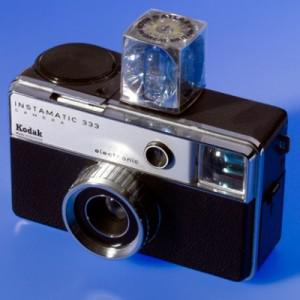 Many baby boomers took their first pictures with a Kodak Instamatic camera like this one.