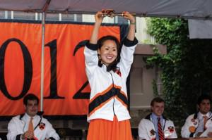 The proverbial key to Princeton presented by the President of Princeton to Lindy Li, President of... [+] the alumni class. Photo Credit Office of the Dean of Undergraduate Students, Princeton University