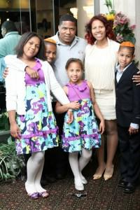 Rina with her children, recently celebrating the Bar Mitzvah of her oldest son