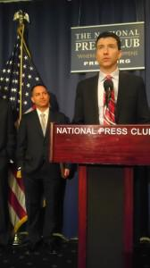 Jason Best with Sherwood Neiss at the National Press Club