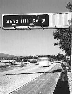 "Sand Hill Road sign from 280 north. ""KTVC..."