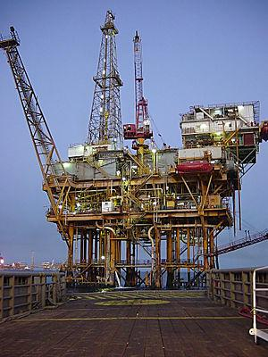 Offshore platform located in the Gulf of Mexic...