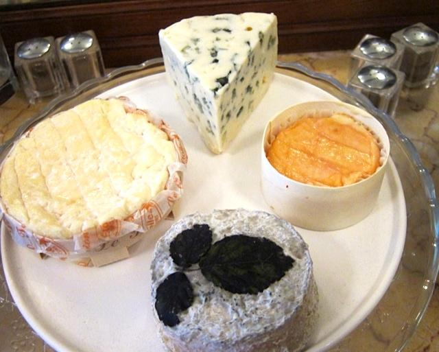 An array of Cantin cheeses at Reed, including (at 10 o'clock) the greatest St. Felicien I have ever tasted