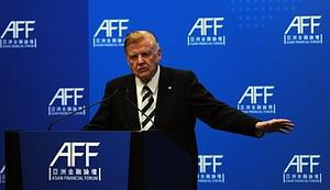 Robert Mundell speaks at the Asia Financial Fo...