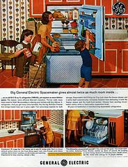 GENERAL ELECTRIC SPACE-SAVER REFRIGERATOR 1963