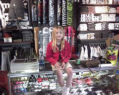 Josie hanging at Zumiez