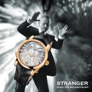Dieter Meier of Yello fame chose Frank Sinatra's Strangers in the Night as the melody for the unique... [+] timepiece