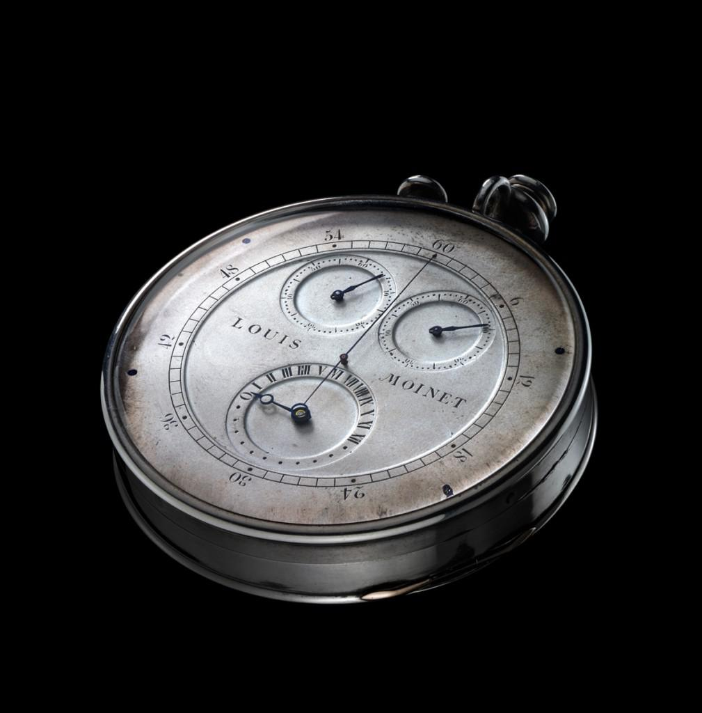 Louis Moinet started his chronograph 1815 and finished it in 1816 according to hallmarks in the case