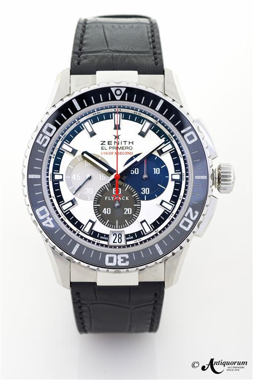 The Zenith El Primero Stratos Flyback Striking 10th Tribute to Felix Baumgartner: the first watch to... [+] break the sound barrier.