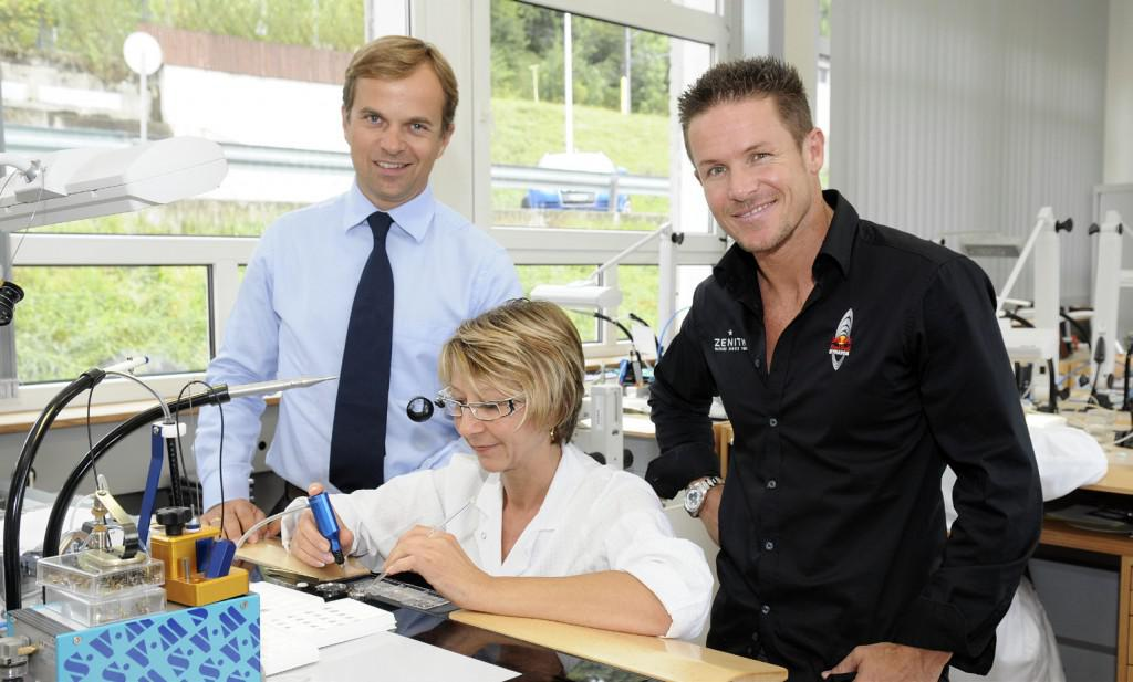 Felix Baumgartner visiting the Zenith factory about two years ago