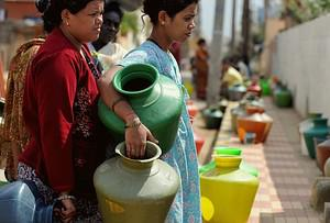 Indian residents in a district facing a drinki...