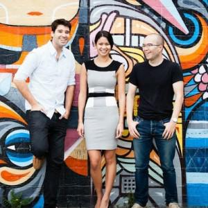 Canva co-founders Cliff Obrecht, Melanie Perkins, and Cameron Adams